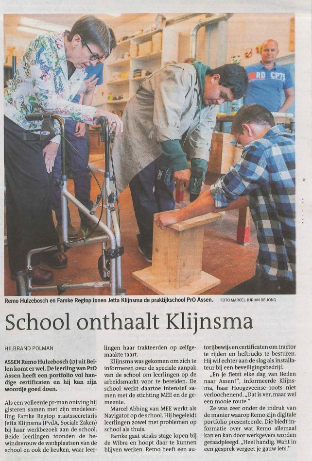 dagblad_bezoek_klijnsma